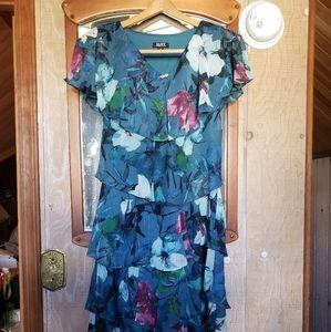 S..L. Fashions Women's Tiered Pebble Dress